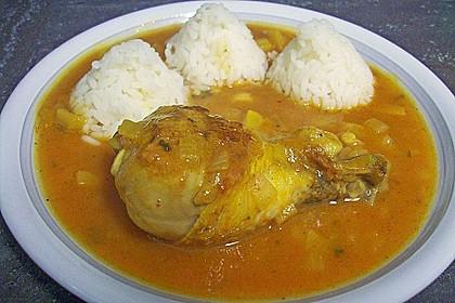 Hähnchen - Curry mit Apfelsoße 11