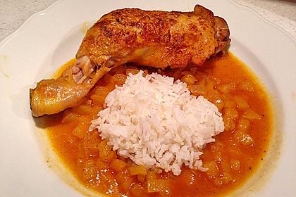 Hähnchen - Curry mit Apfelsoße 25