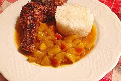 Hähnchen - Curry mit Apfelsoße 9