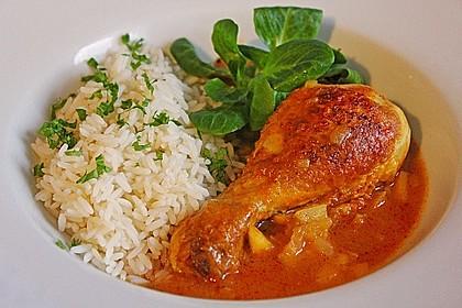 Hähnchen - Curry mit Apfelsoße
