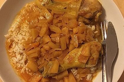 Hähnchen - Curry mit Apfelsoße 15