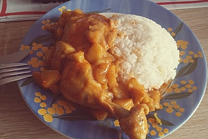 Hähnchen - Curry mit Apfelsoße 17
