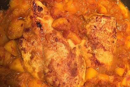 Hähnchen - Curry mit Apfelsoße 16