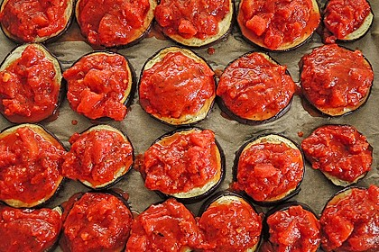 Auberginen mit Tomatensugo und Parmesan überbacken 35