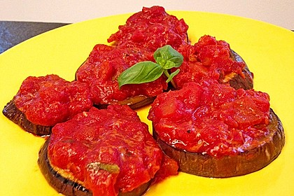 Auberginen mit Tomatensugo und Parmesan überbacken 30
