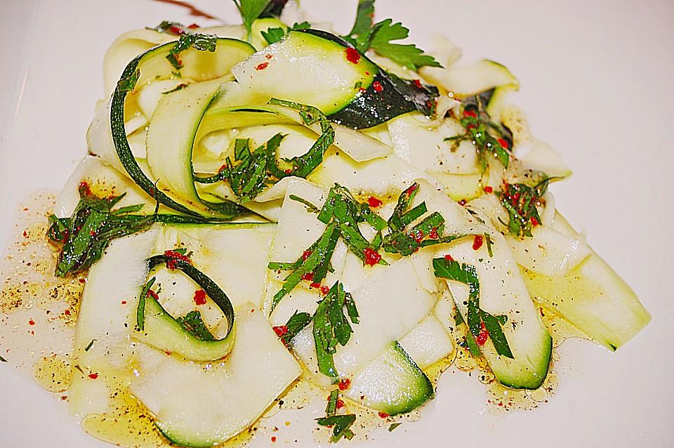 zucchini salat mit minz vinaigrette von bushcook. Black Bedroom Furniture Sets. Home Design Ideas