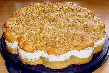Walnuss - Honig - Butterkuchen mit Äpfeln 3