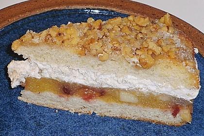 Walnuss - Honig - Butterkuchen mit Äpfeln 2