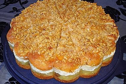 Walnuss - Honig - Butterkuchen mit Äpfeln 1