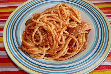 Schnelle Spaghetti mit Rouladenstückchen 1