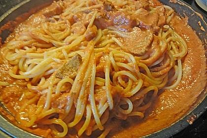 Schnelle Spaghetti mit Rouladenstückchen 2