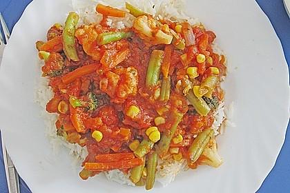 Reis zu roter Sauce 2