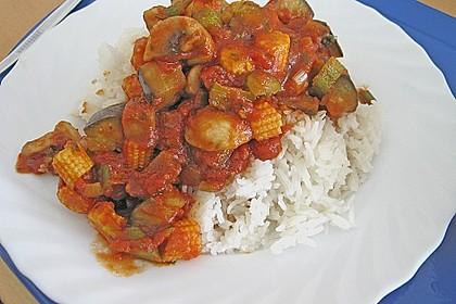 Reis zu roter Sauce 4