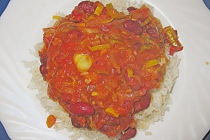 Reis zu roter Sauce 5