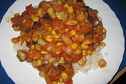 Reis zu roter Sauce 6