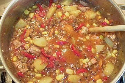 Linsen-Gemüse-Kartoffel-Topf mit Putenfleisch 7