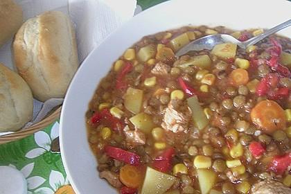 Linsen-Gemüse-Kartoffel-Topf mit Putenfleisch 6