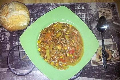 Linsen-Gemüse-Kartoffel-Topf mit Putenfleisch 4