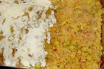 Sauerkrautauflauf mit Hackfleisch und Reis