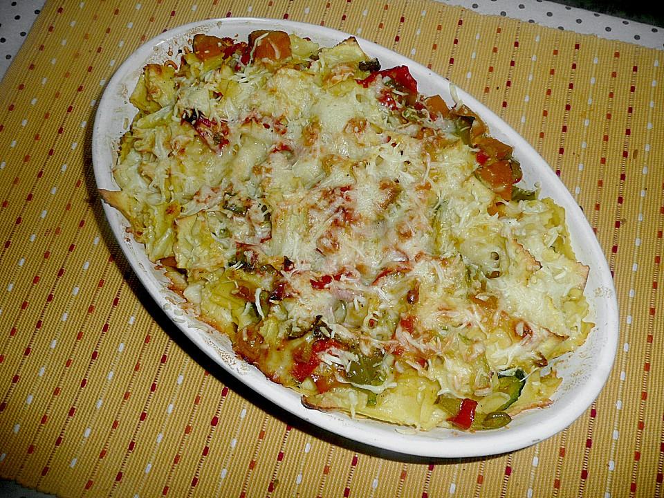 vegetarischer nudelauflauf mit kürbis (rezept mit bild) | chefkoch.de - Kürbissuppe Rezept Chefkoch