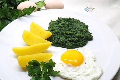 Spinat, Spiegelei und Salzkartoffeln 5