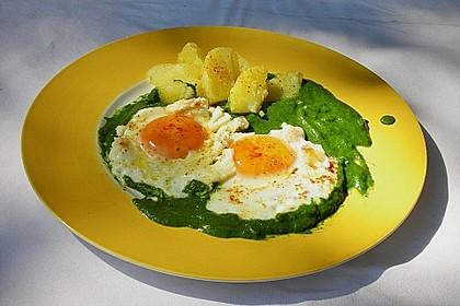 Spinat, Spiegelei und Salzkartoffeln 12