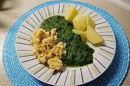 Spinat, Spiegelei und Salzkartoffeln 10