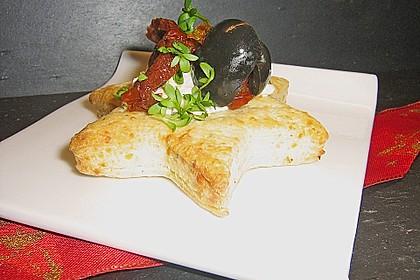 Parmesansterne mit Tomaten und Oliven 9