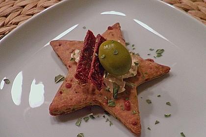 Parmesansterne mit Tomaten und Oliven 8