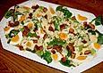 Feldsalat mit lauwarmer Senfsauce