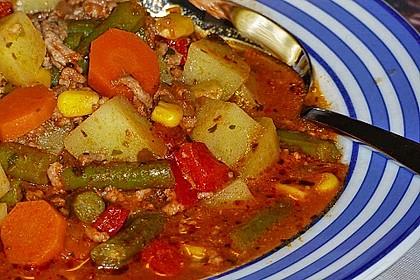 Bunter Hackfleisch - Gemüse - Eintopf 10