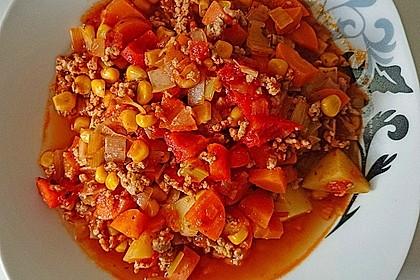 Bunter Hackfleisch - Gemüse - Eintopf 8