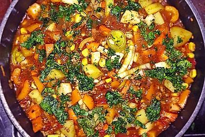 Bunter Hackfleisch - Gemüse - Eintopf 11