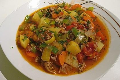 Bunter Hackfleisch - Gemüse - Eintopf 13