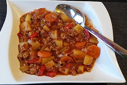 Bunter Hackfleisch - Gemüse - Eintopf 23