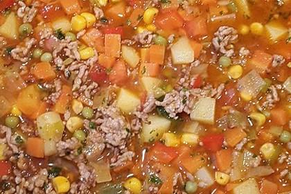 Bunter Hackfleisch - Gemüse - Eintopf 44
