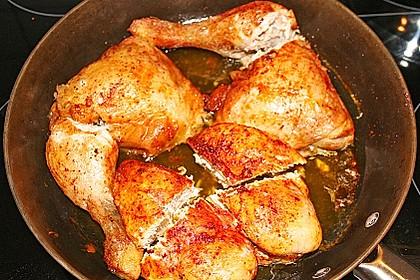 Tandoori - Hähnchen mit rotem Linsen - Schlangenbohnen - Gemüse 2