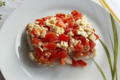 Folienfisch mit Feta und Tomaten