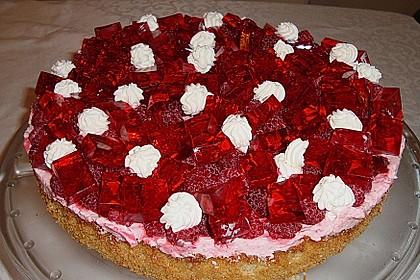Oberleckere Himbeer - Nuss - Torte