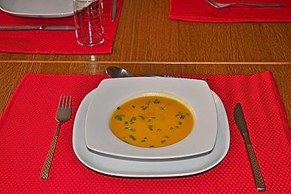 Kürbissuppe mit Kokosmilch 1