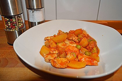 Süßkartoffel-Hühnertopf