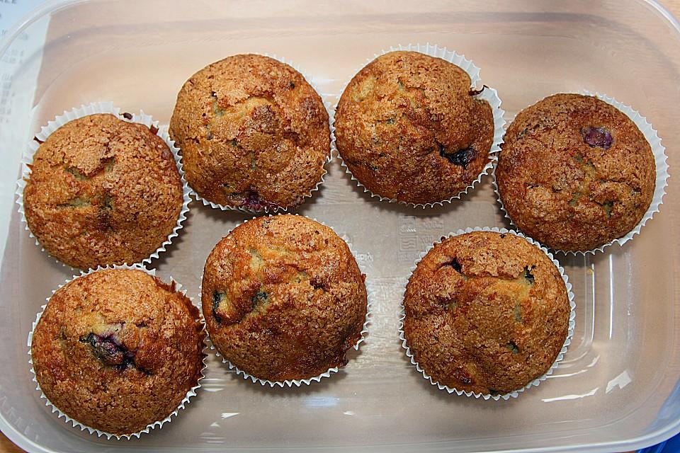 bananen blaubeer muffins von prost jeltz chefkoch de