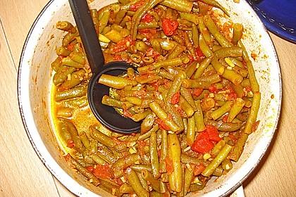 Grüne Bohnen in Tomatensauce, libanesisch 6