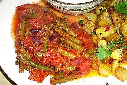 Grüne Bohnen in Tomatensauce, libanesisch 1