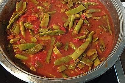 Grüne Bohnen in Tomatensauce, libanesisch 5