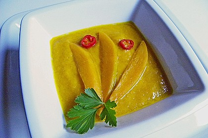 Mango-Möhren-Suppe 1