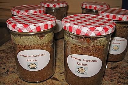 Rotwein - Haselnuss - Kuchen 3