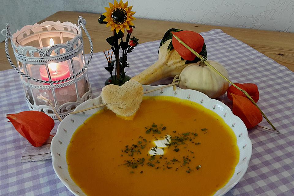 einfache kürbissuppe (rezept mit bild) von bibopf | chefkoch.de - Kürbissuppe Rezept Chefkoch