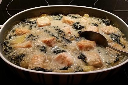 Spinat - Kartoffel - Lachs - Auflauf 21