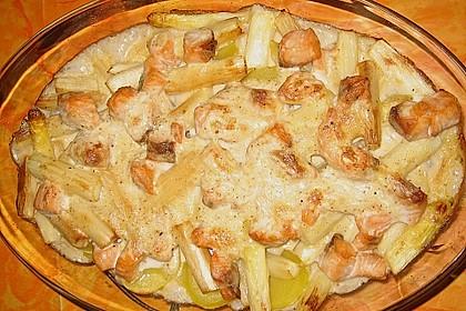 Spinat - Kartoffel - Lachs - Auflauf 11